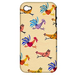 Chicken Apple Iphone 4/4s Hardshell Case (pc+silicone)