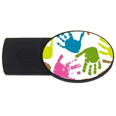Hand Usb Flash Drive Oval (2 Gb)