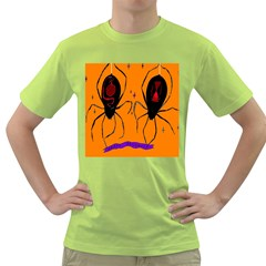 Happy Hellpween Spider Green T Shirt by AnjaniArt