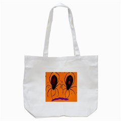 Happy Hellpween Spider Tote Bag (white)