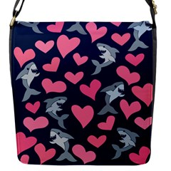 Shark Lovers Flap Messenger Bag (s) by BubbSnugg