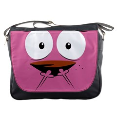 Funny Face Messenger Bags by AnjaniArt