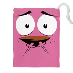 Funny Face Drawstring Pouches (xxl) by AnjaniArt