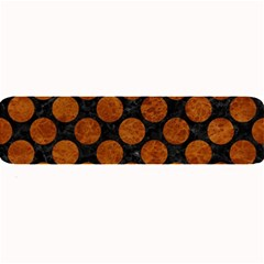 Circles2 Black Marble & Brown Marble Large Bar Mat by trendistuff