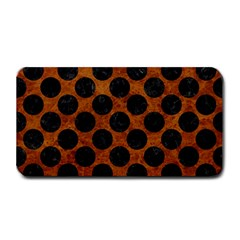 Circles2 Black Marble & Brown Marble (r) Medium Bar Mat by trendistuff