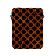 Circles2 Black Marble & Brown Marble (r) Apple Ipad 2/3/4 Protective Soft Case by trendistuff
