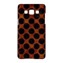 Circles2 Black Marble & Brown Marble (r) Samsung Galaxy A5 Hardshell Case  by trendistuff