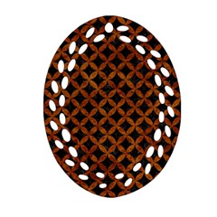 Circles3 Black Marble & Brown Marble Oval Filigree Ornament (two Sides) by trendistuff