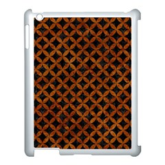Circles3 Black Marble & Brown Marble Apple Ipad 3/4 Case (white) by trendistuff