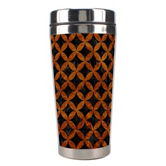 Circles3 Black Marble & Brown Marble Stainless Steel Travel Tumbler by trendistuff