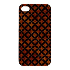 Circles3 Black Marble & Brown Marble (r) Apple Iphone 4/4s Hardshell Case by trendistuff