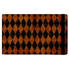 Diamond1 Black Marble & Brown Marble Apple Ipad 3/4 Flip Case by trendistuff