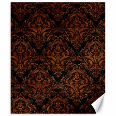 Damask1 Black Marble & Brown Marble Canvas 20  X 24  by trendistuff