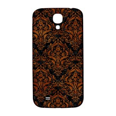 Damask1 Black Marble & Brown Marble Samsung Galaxy S4 I9500/i9505  Hardshell Back Case by trendistuff