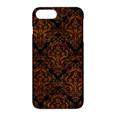 Damask1 Black Marble & Brown Marble Apple Iphone 7 Plus Hardshell Case by trendistuff