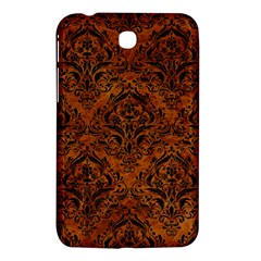 Damask1 Black Marble & Brown Marble (r) Samsung Galaxy Tab 3 (7 ) P3200 Hardshell Case  by trendistuff