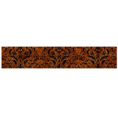 Damask1 Black Marble & Brown Marble (r) Flano Scarf (large) by trendistuff