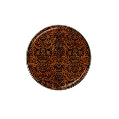 Damask2 Black Marble & Brown Marble (r) Hat Clip Ball Marker (4 Pack) by trendistuff