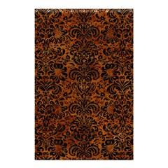 Damask2 Black Marble & Brown Marble (r) Shower Curtain 48  X 72  (small) by trendistuff