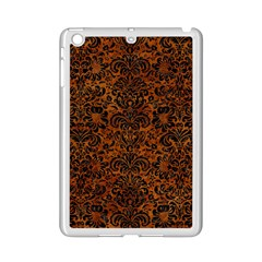Damask2 Black Marble & Brown Marble (r) Apple Ipad Mini 2 Case (white)