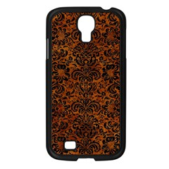Damask2 Black Marble & Brown Marble (r) Samsung Galaxy S4 I9500/ I9505 Case (black) by trendistuff