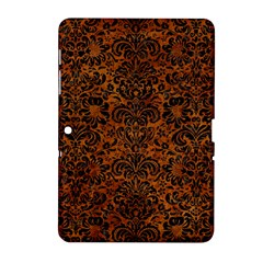 Damask2 Black Marble & Brown Marble (r) Samsung Galaxy Tab 2 (10 1 ) P5100 Hardshell Case