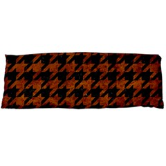 Houndstooth1 Black Marble & Brown Marble Body Pillow Case (dakimakura) by trendistuff
