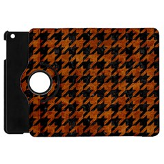 Houndstooth1 Black Marble & Brown Marble Apple Ipad Mini Flip 360 Case by trendistuff