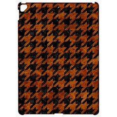 Houndstooth1 Black Marble & Brown Marble Apple Ipad Pro 12 9   Hardshell Case by trendistuff