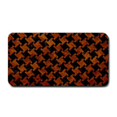 Houndstooth2 Black Marble & Brown Marble Medium Bar Mat by trendistuff