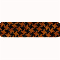 Houndstooth2 Black Marble & Brown Marble Large Bar Mat by trendistuff