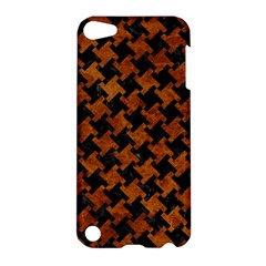 Houndstooth2 Black Marble & Brown Marble Apple Ipod Touch 5 Hardshell Case by trendistuff