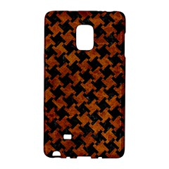 Houndstooth2 Black Marble & Brown Marble Samsung Galaxy Note Edge Hardshell Case by trendistuff