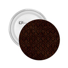 Hexagon1 Black Marble & Brown Marble 2 25  Button by trendistuff