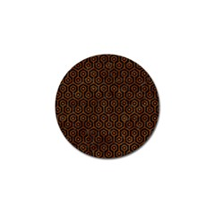 Hexagon1 Black Marble & Brown Marble Golf Ball Marker by trendistuff