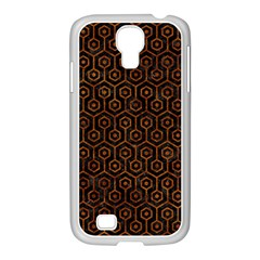 Hexagon1 Black Marble & Brown Marble Samsung Galaxy S4 I9500/ I9505 Case (white) by trendistuff