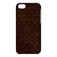 Hexagon1 Black Marble & Brown Marble Apple Iphone 5c Hardshell Case by trendistuff
