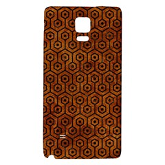 Hexagon1 Black Marble & Brown Marble (r) Samsung Note 4 Hardshell Back Case by trendistuff