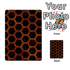 Hexagon2 Black Marble & Brown Marble Multi Purpose Cards (rectangle) by trendistuff