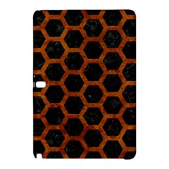 Hexagon2 Black Marble & Brown Marble Samsung Galaxy Tab Pro 12 2 Hardshell Case by trendistuff
