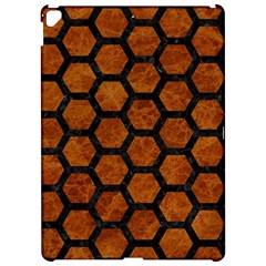 Hexagon2 Black Marble & Brown Marble (r) Apple Ipad Pro 12 9   Hardshell Case