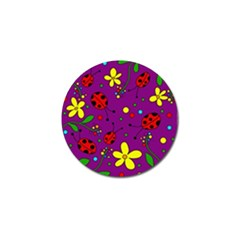 Ladybugs   Purple Golf Ball Marker