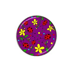 Ladybugs   Purple Hat Clip Ball Marker (4 Pack) by Valentinaart