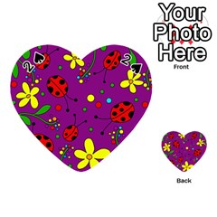 Ladybugs   Purple Playing Cards 54 (heart)