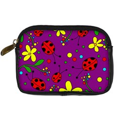 Ladybugs   Purple Digital Camera Cases by Valentinaart