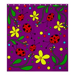 Ladybugs   Purple Shower Curtain 66  X 72  (large)  by Valentinaart