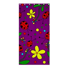 Ladybugs   Purple Shower Curtain 36  X 72  (stall)  by Valentinaart