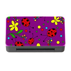 Ladybugs   Purple Memory Card Reader With Cf by Valentinaart