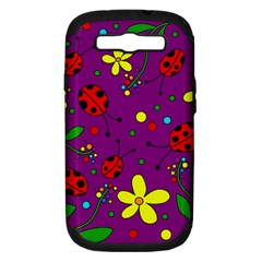 Ladybugs   Purple Samsung Galaxy S Iii Hardshell Case (pc+silicone) by Valentinaart