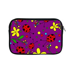 Ladybugs   Purple Apple Ipad Mini Zipper Cases by Valentinaart